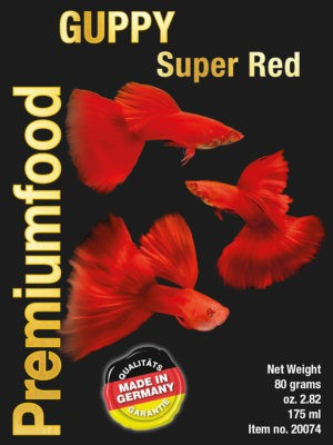 Guppy super red 80gr
